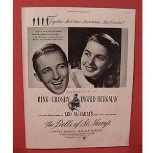 1945 Bells of St Mary's Magazine Ad Cosby Bergman